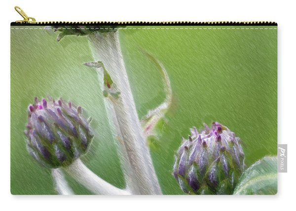 Thistle Stipe  With Buds Carry-all Pouch