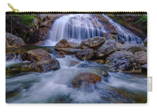 Carry-all Pouch featuring the photograph Thompson Falls, Pinkham Notch, Nh by Jeff Sinon