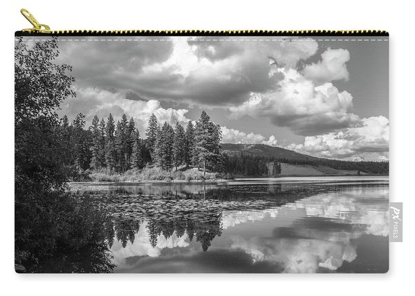 Thompson Lake In Black And White Carry-all Pouch