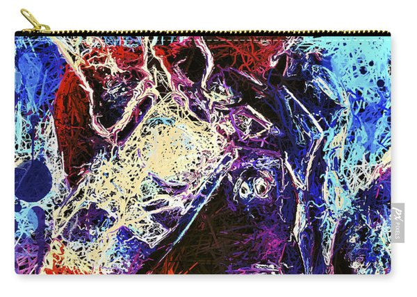 Carry-all Pouch featuring the mixed media Thor Charged Up by Matra Art