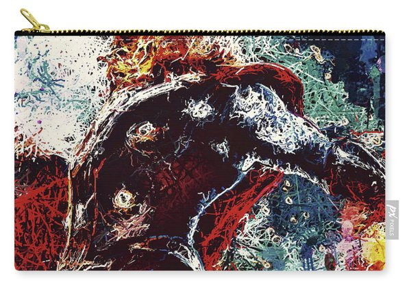 Carry-all Pouch featuring the mixed media Thor  by Al Matra