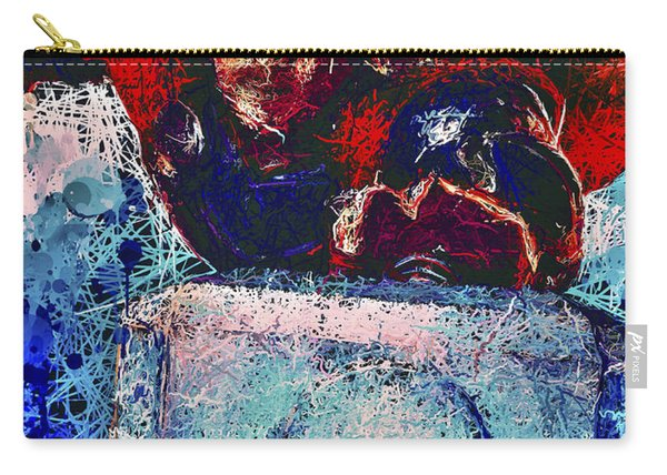 Carry-all Pouch featuring the mixed media Thor's Hammer by Al Matra