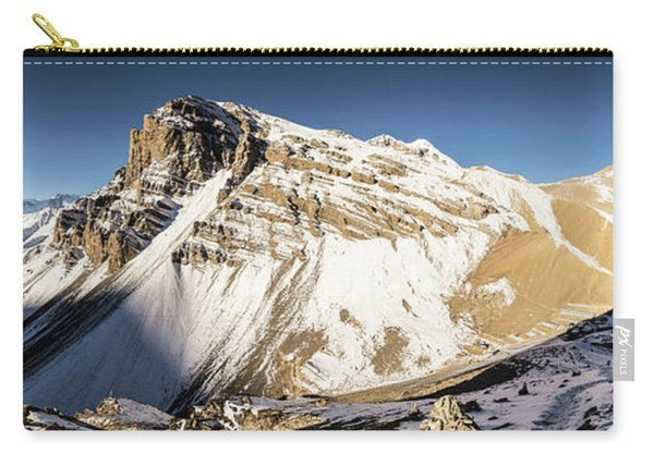 Thorung La Pass In The Annapurna Range In The Himalayas In Nepal Carry-all Pouch