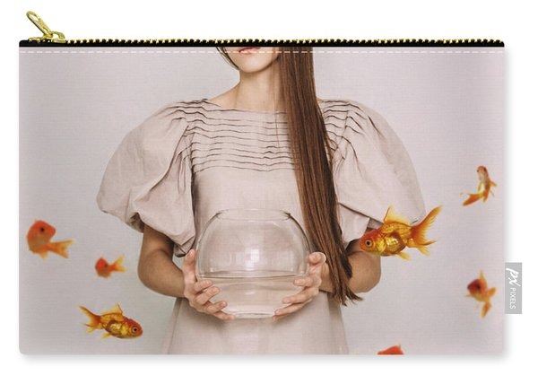 Thoughts Of Freedom. Series Escape Of Golden Fish  Carry-all Pouch