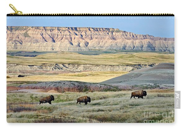 Three Bison Bulls Carry-all Pouch
