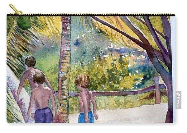 Three Boys Climbing Carry-all Pouch
