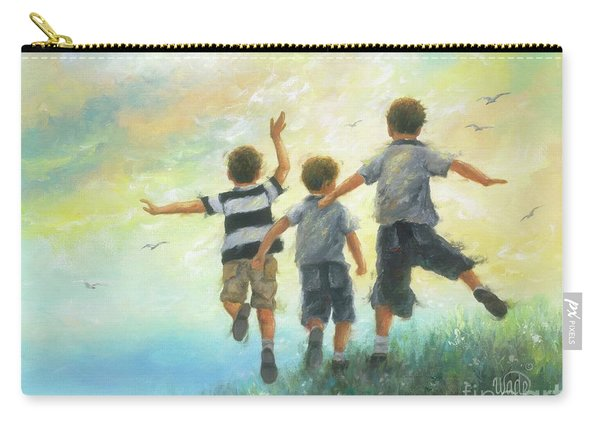 Three Brothers Leaping Carry-all Pouch