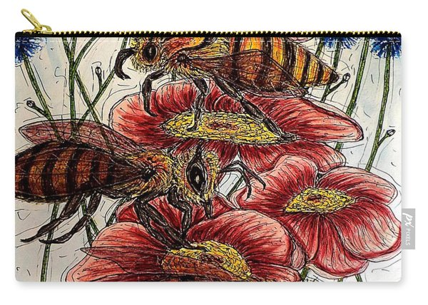 Three Busy Bees Carry-all Pouch