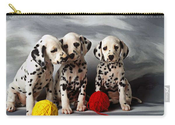 Three Dalmatian Puppies  Carry-all Pouch