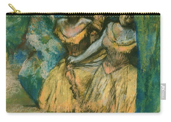 Three Dancers With A Backdrop Of Trees And Rocks Carry-all Pouch