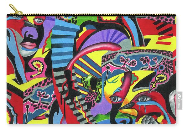 Three Disguises Of An Abstract Thought Carry-all Pouch