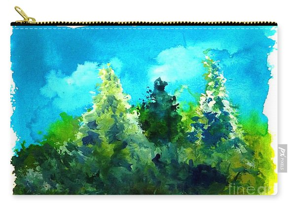 Three Evergreens Carry-all Pouch