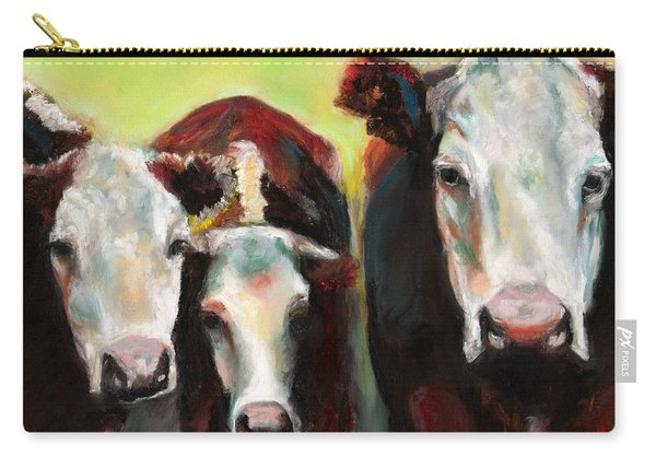 Three Generations Of Moo Carry-all Pouch