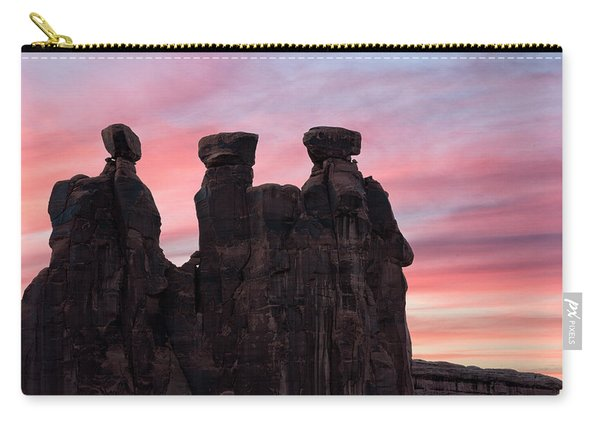 Three Gossips At Sunset Carry-all Pouch