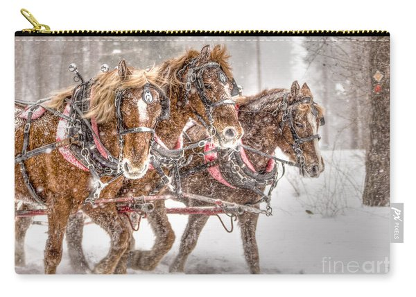 Three Horses - Color Carry-all Pouch