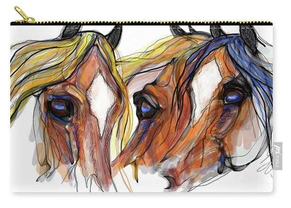Three Horses Talking Carry-all Pouch