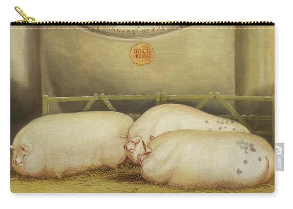 Three Improved Leicesters In A Pen At 1858 Smithfield Club Christmas Show Carry-all Pouch