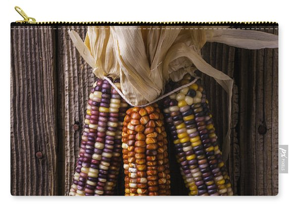 Three Indian Corn Carry-all Pouch