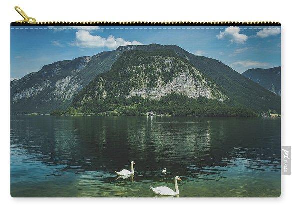 Three Lake Hallstatt Swans Carry-all Pouch