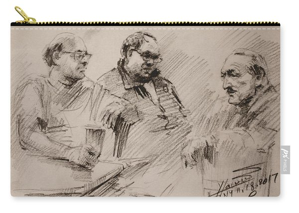 Three Men Chatting Carry-all Pouch