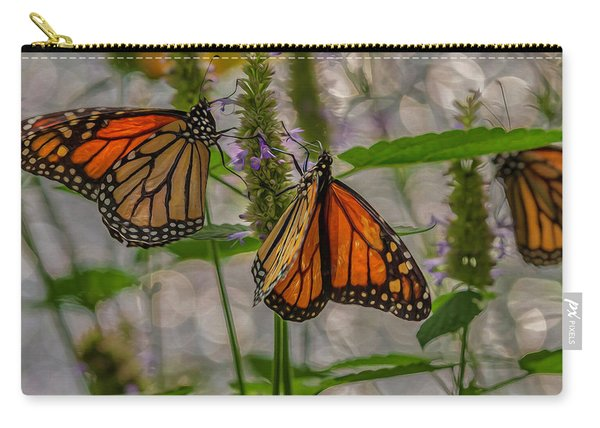 Three Monarch Butterfly Carry-all Pouch