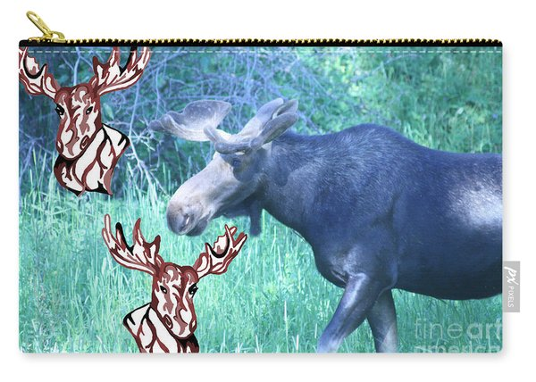 Three Moose Carry-all Pouch