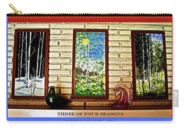 Three Of Four Seasons Carry-all Pouch