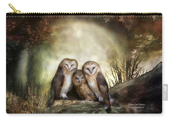 Three Owl Moon Carry-all Pouch