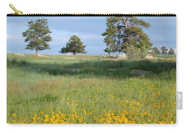 Carry-all Pouch featuring the photograph Three Trees by Joseph R Luciano