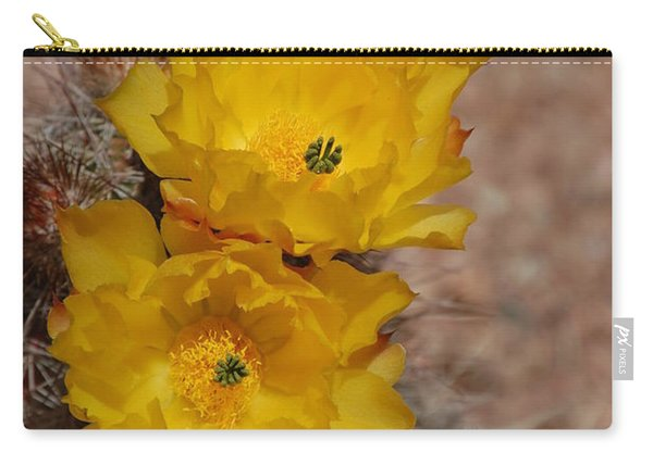 Three Yellow Cactus Flowers Carry-all Pouch