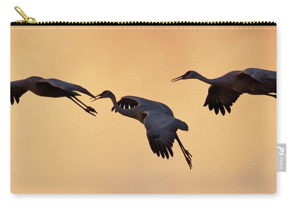 Carry-all Pouch featuring the pyrography Three's Comapany by Michael Lucarelli