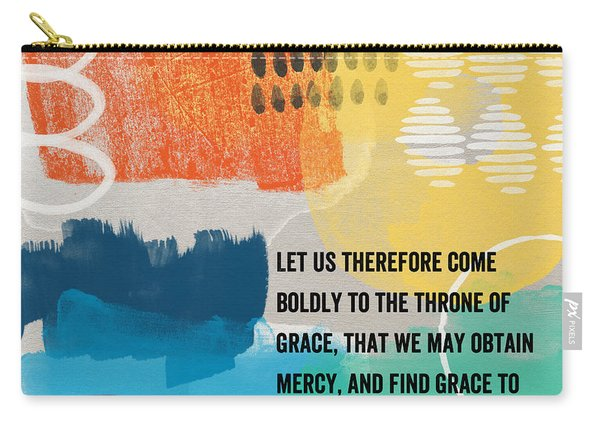 Throne Of Grace- Contemporary Christian Art By Linda Woods. Carry-all Pouch