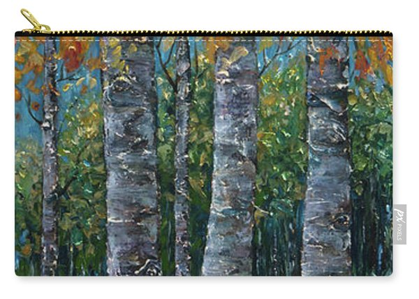 Through The Aspen Trees Diptych 2 Carry-all Pouch