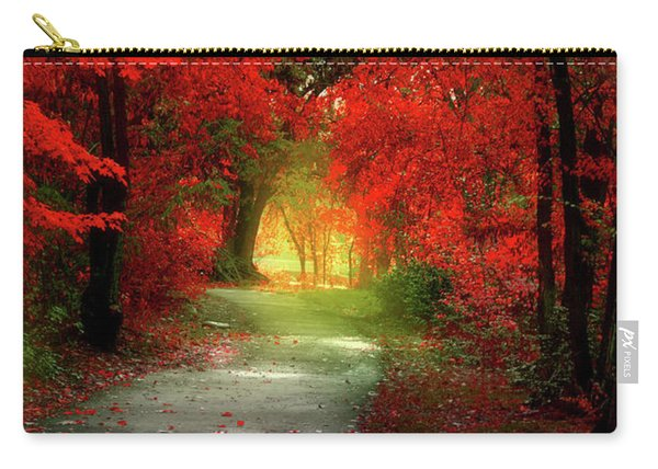 Through The Crimson Leaves To A Golden Beginning Carry-all Pouch