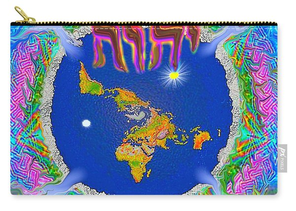 Y H W H Creation Mandala Flat Earth Carry-all Pouch