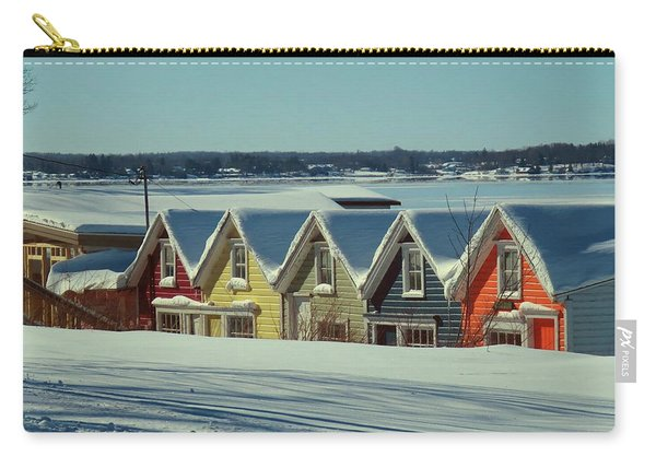 Winter View Ti Park Boathouses Carry-all Pouch