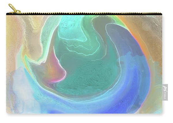 Carry-all Pouch featuring the digital art Tidal Pool by Gina Harrison