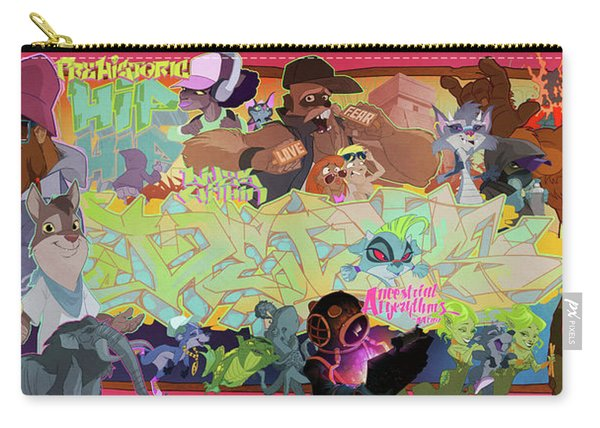 Carry-all Pouch featuring the digital art Tidal Recall 2 by Nelson  Dedos Garcia