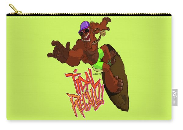 Carry-all Pouch featuring the drawing Tidal Recall  by Nelson Dedos Garcia