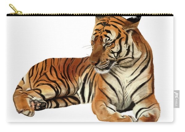 Tiger In Repose Carry-all Pouch