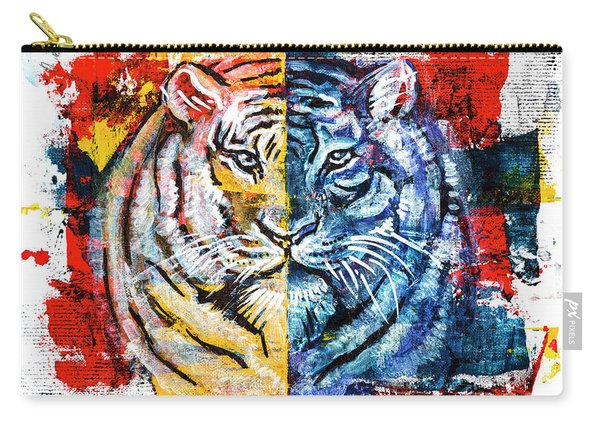 Tiger, Original Acrylic Painting Carry-all Pouch