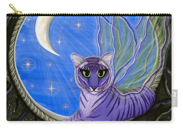 Tigerpixie Purple Tiger Fairy Carry-all Pouch