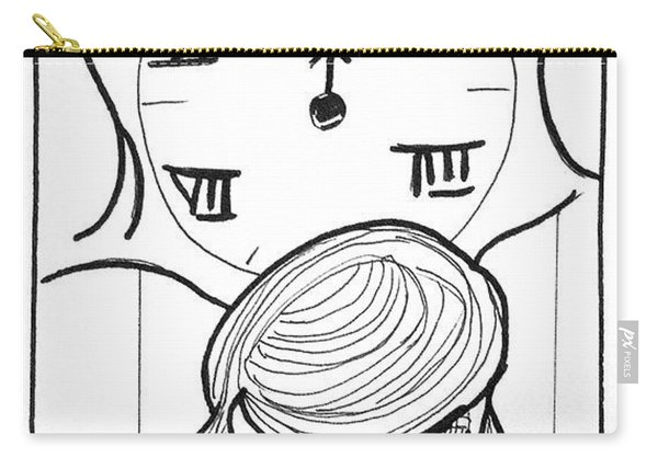 Carry-all Pouch featuring the drawing Time by Loretta Nash