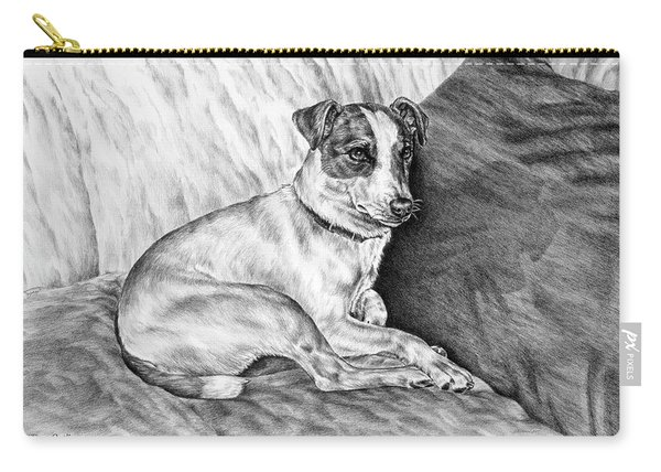 Time Out - Jack Russell Dog Print Carry-all Pouch