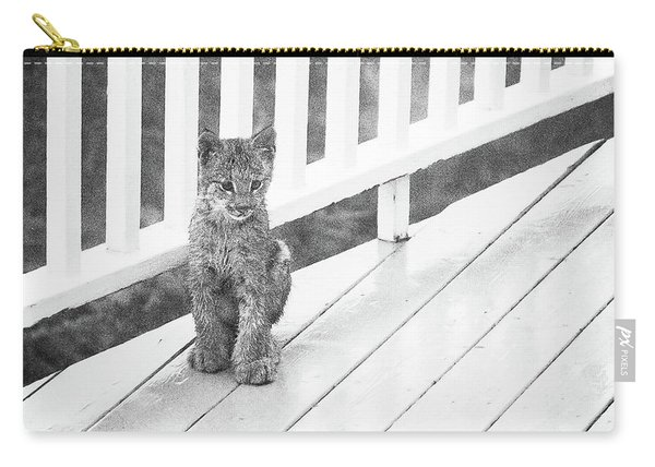 Carry-all Pouch featuring the photograph Time Out Bw by Tim Newton