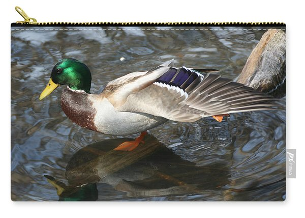 Carry-all Pouch featuring the photograph Time To Stretch by William Selander