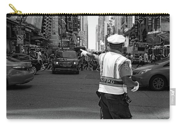 Times Square, New York City  -27854-bw Carry-all Pouch
