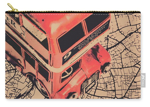 Tin Travel Tour Carry-all Pouch