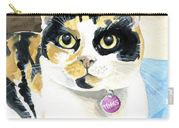 Tinks The Minx - Calico Cat Portrait Carry-all Pouch