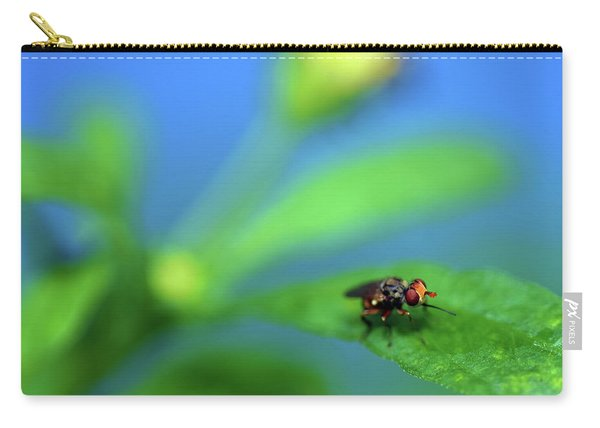 Tiny Fly On Leaf Carry-all Pouch
